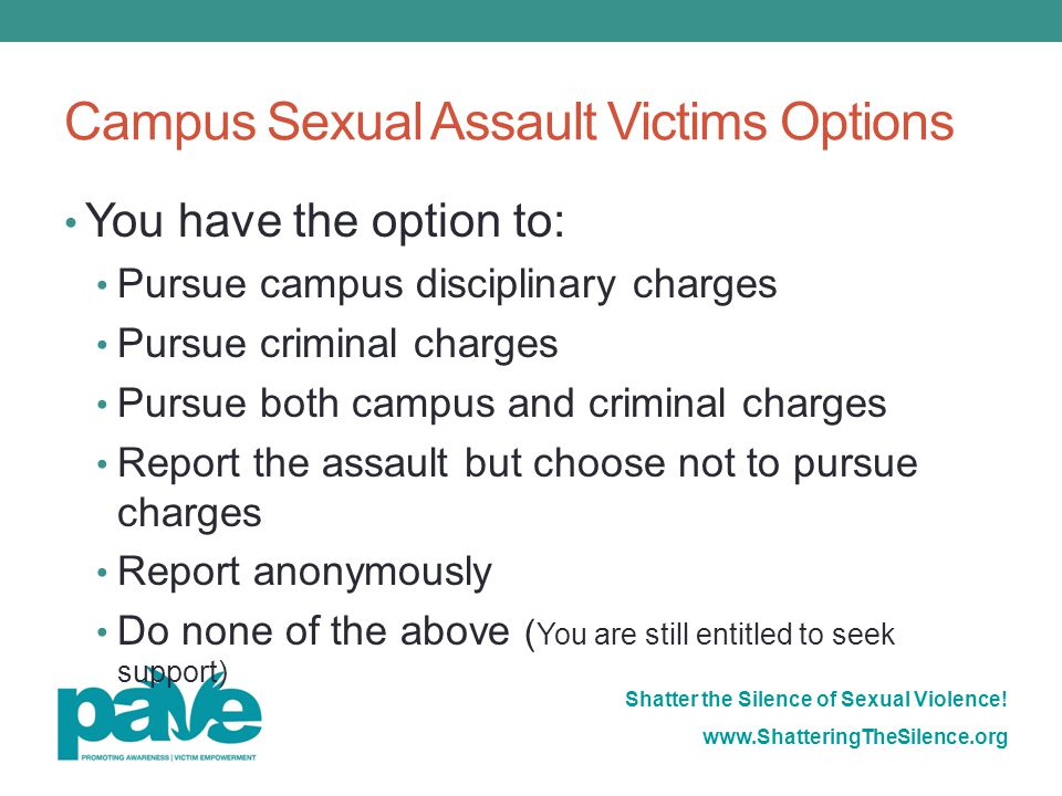 Campus Sexual Assault Victims Options