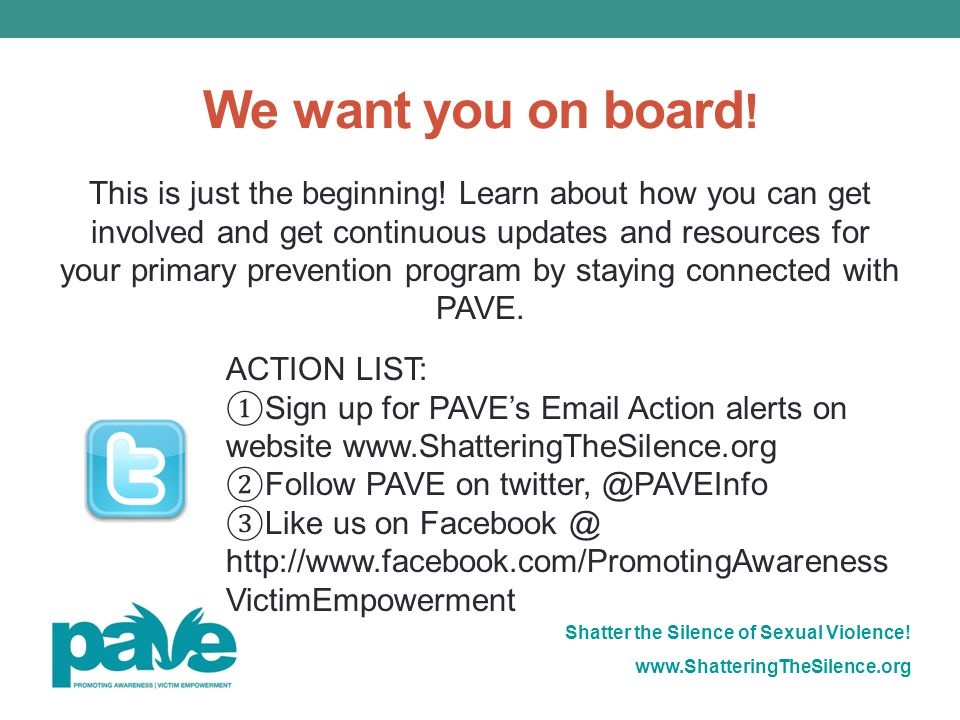 We want you on board!