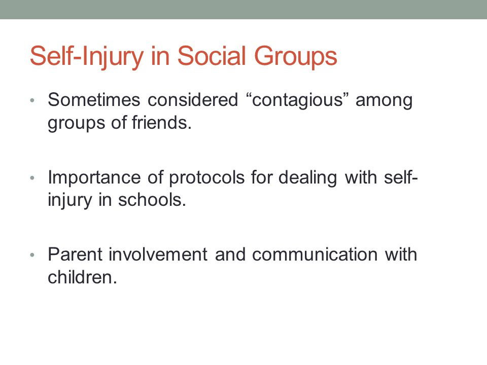 Self-Injury in Social Groups