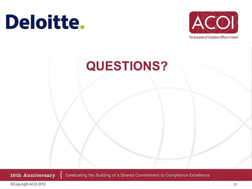 Questions ©Copyright ACOI 2012