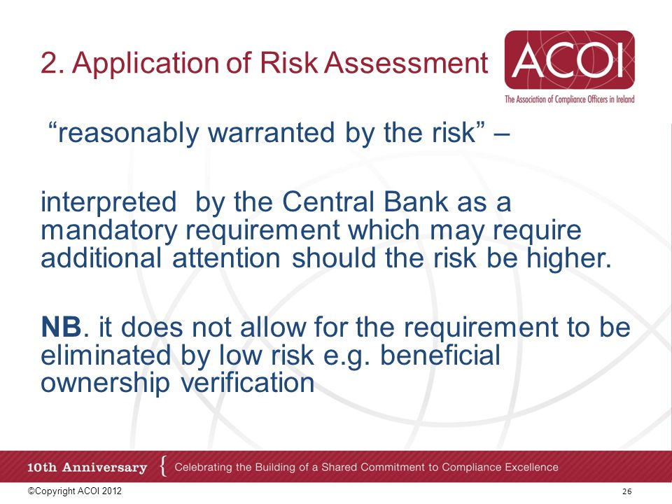 2. Application of Risk Assessment