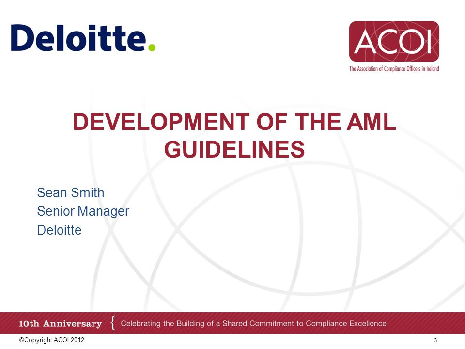 Development of the aml guidelines