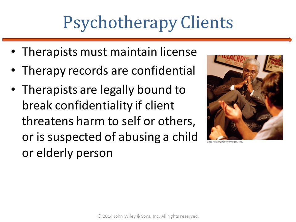Psychotherapy Clients