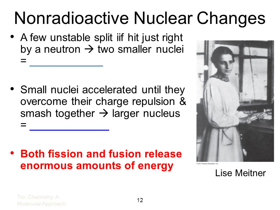 Nonradioactive Nuclear Changes