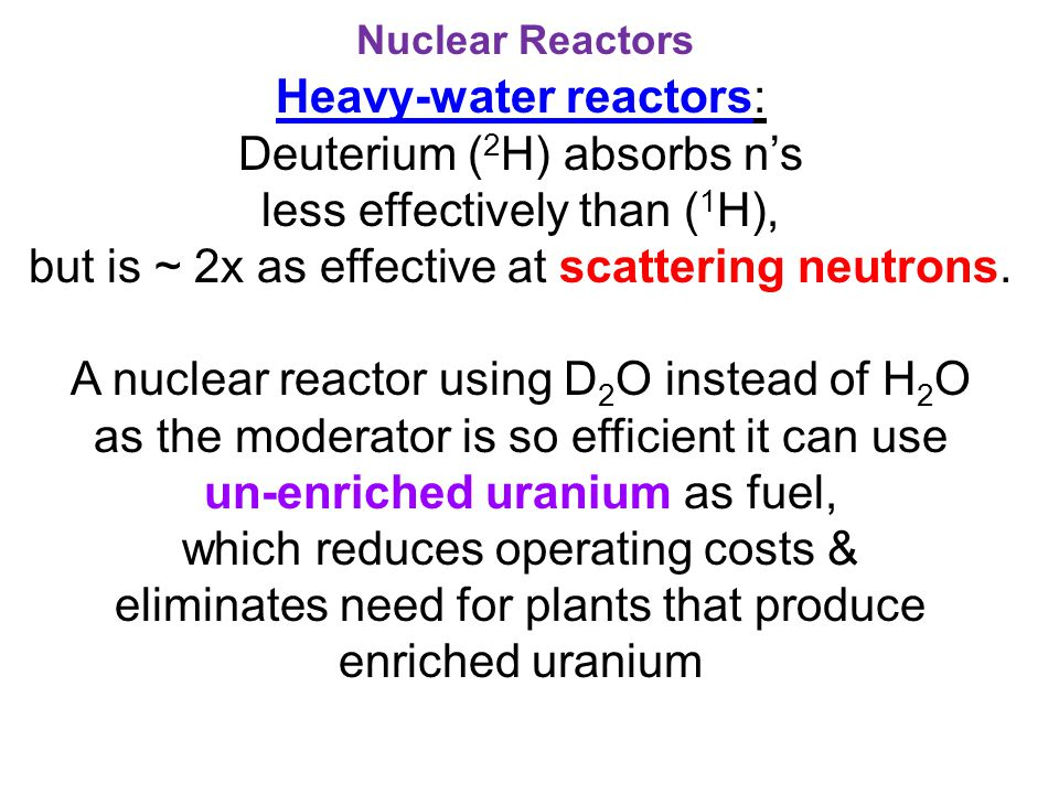Heavy-water reactors: