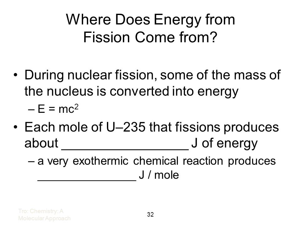 Where Does Energy from Fission Come from