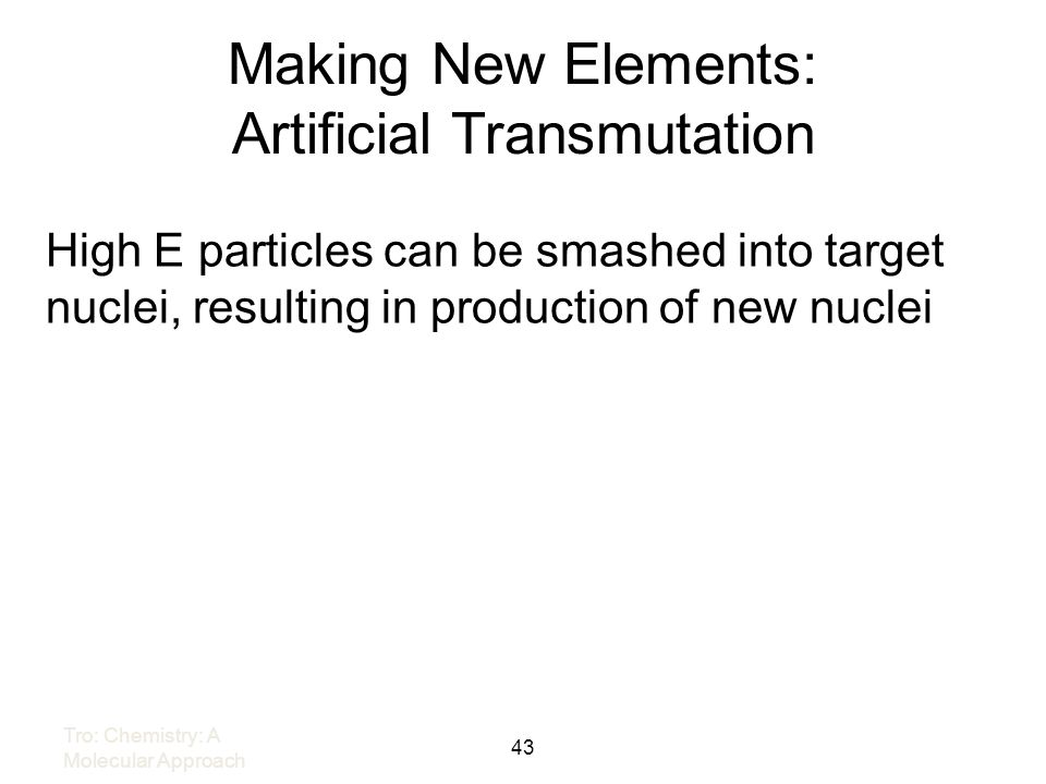Making New Elements: Artificial Transmutation