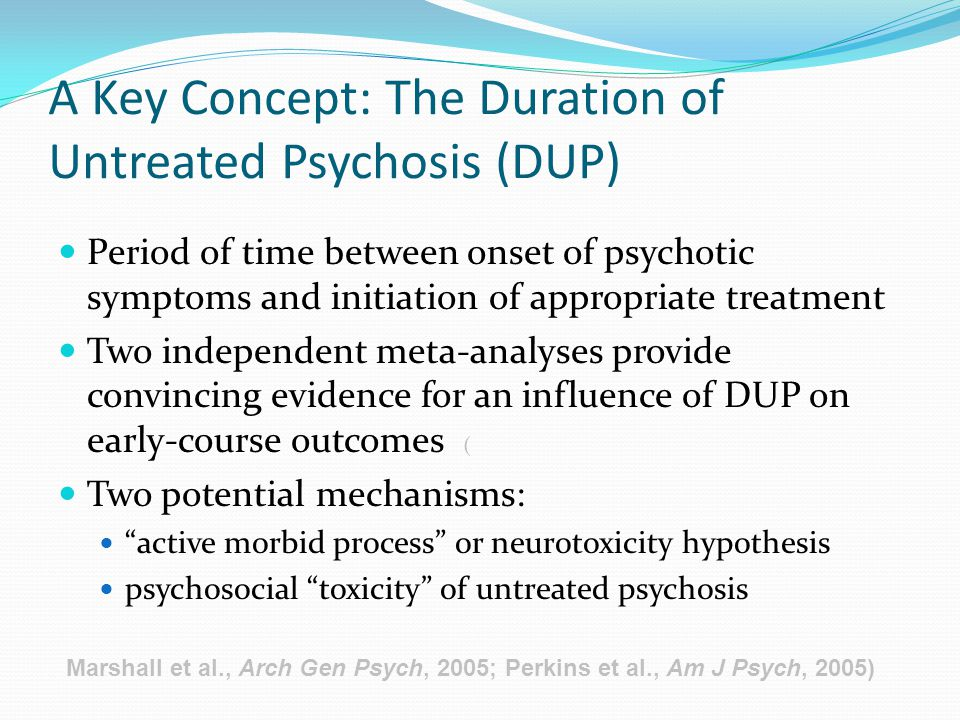 A Key Concept: The Duration of Untreated Psychosis (DUP)