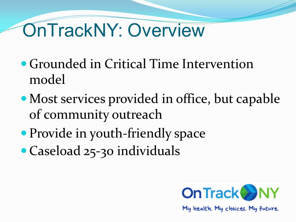 OnTrackNY: Overview Grounded in Critical Time Intervention model