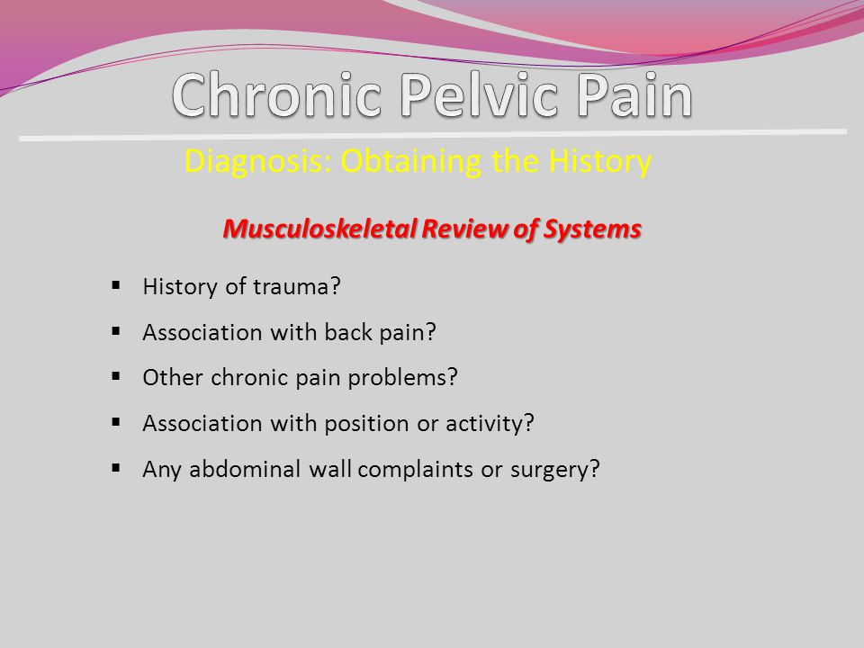 Musculoskeletal Review of Systems