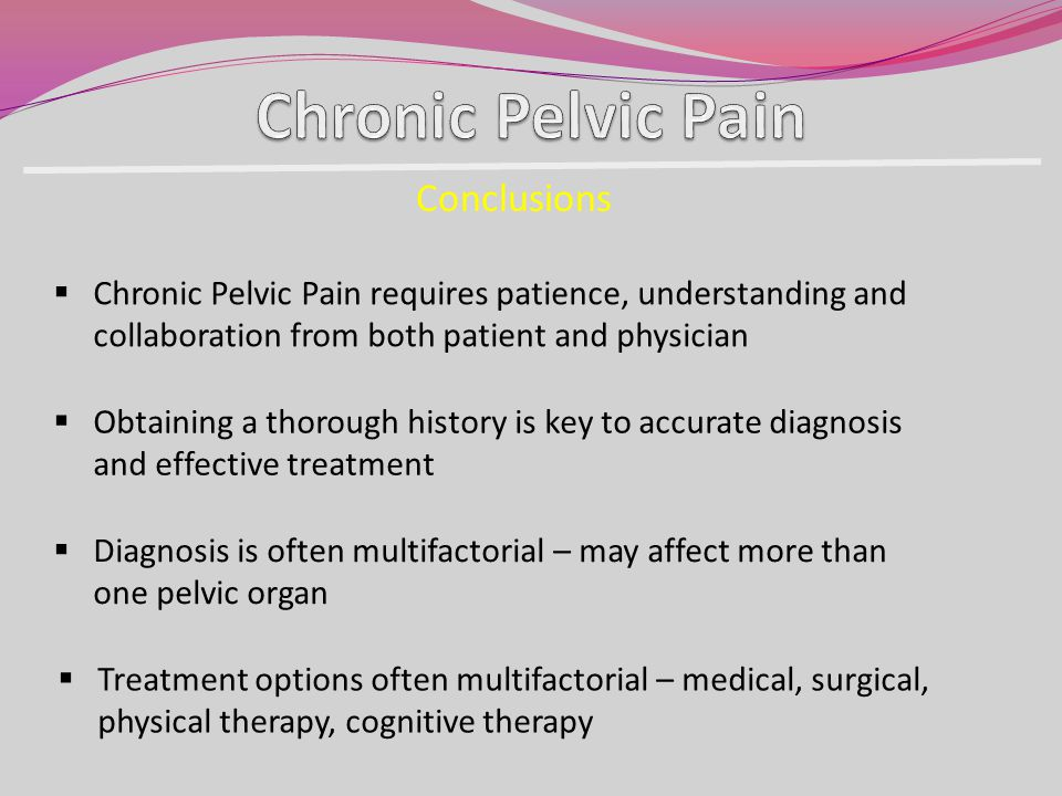 Chronic Pelvic Pain Conclusions