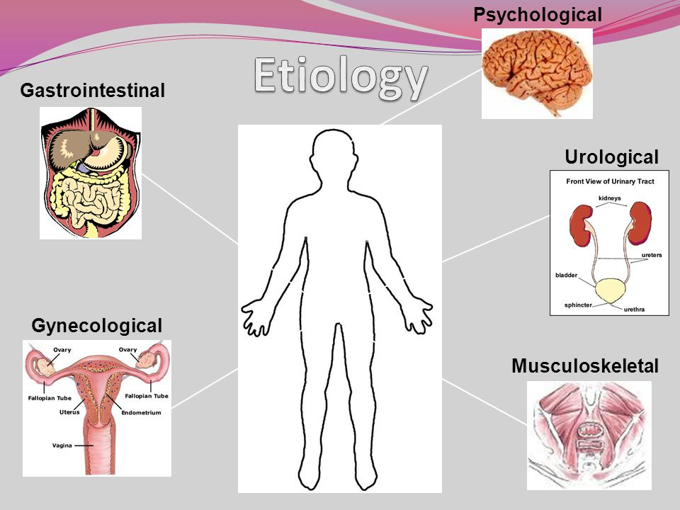 Etiology Psychological Gastrointestinal Urological Gynecological