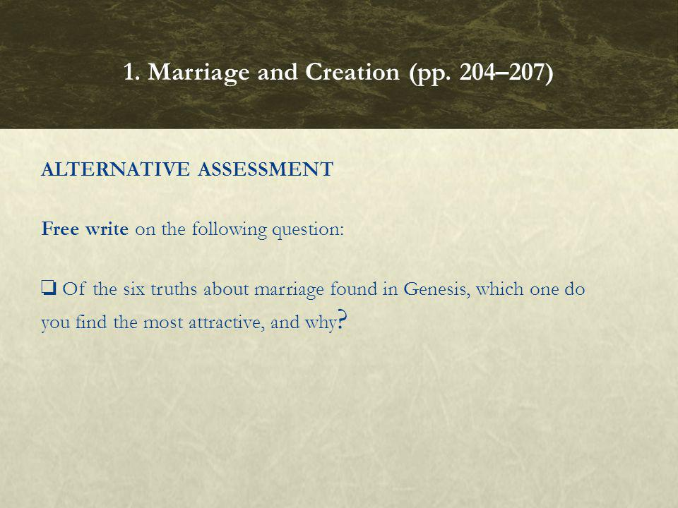 1. Marriage and Creation (pp. 204–207)