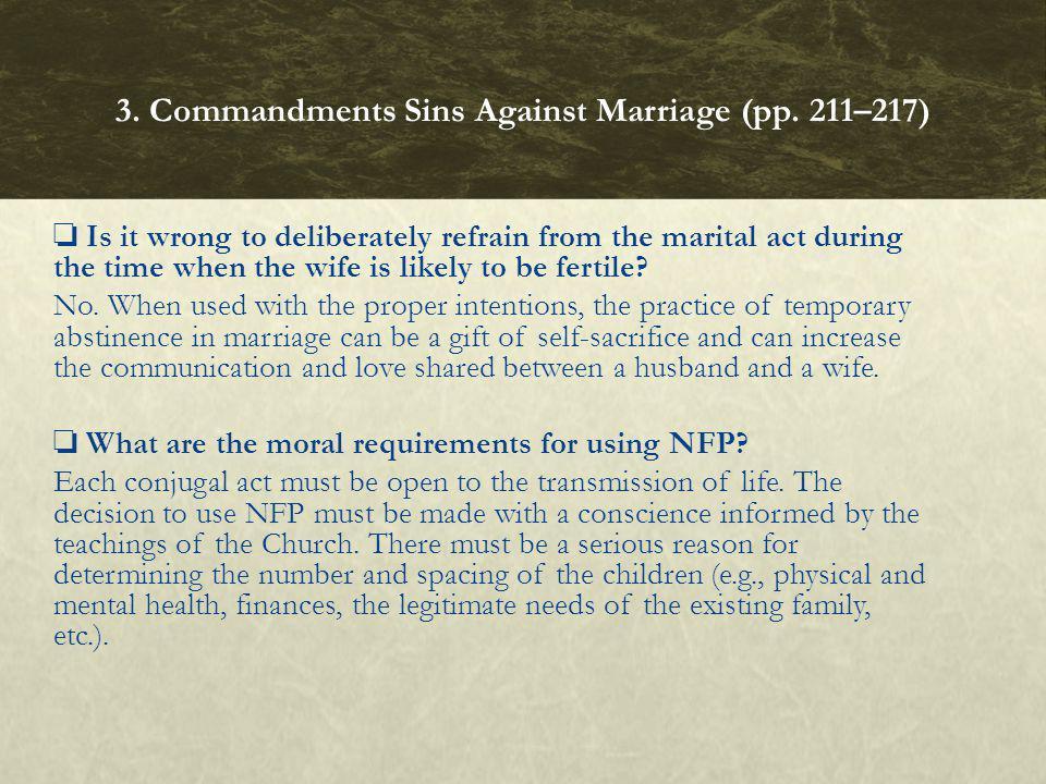 3. Commandments Sins Against Marriage (pp. 211–217)