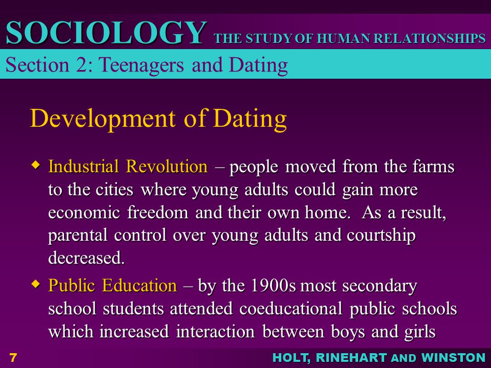 Development of Dating Section 2: Teenagers and Dating