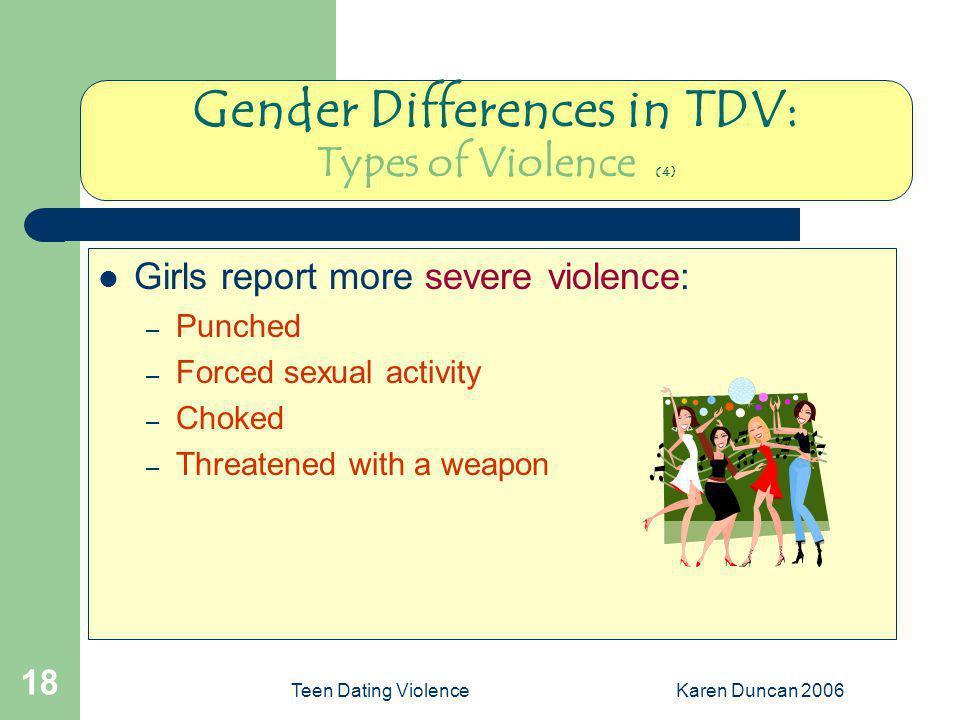 Gender Differences in TDV: Types of Violence (4)