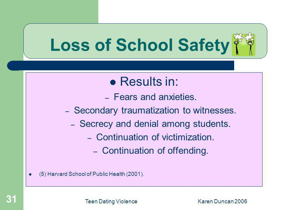 Loss of School Safety (5)