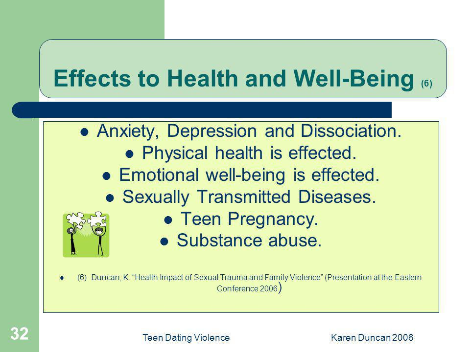 Effects to Health and Well-Being (6)
