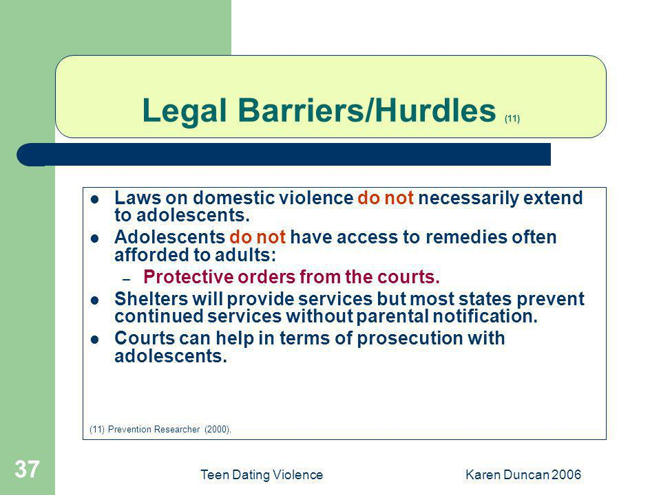 Dating violence california law