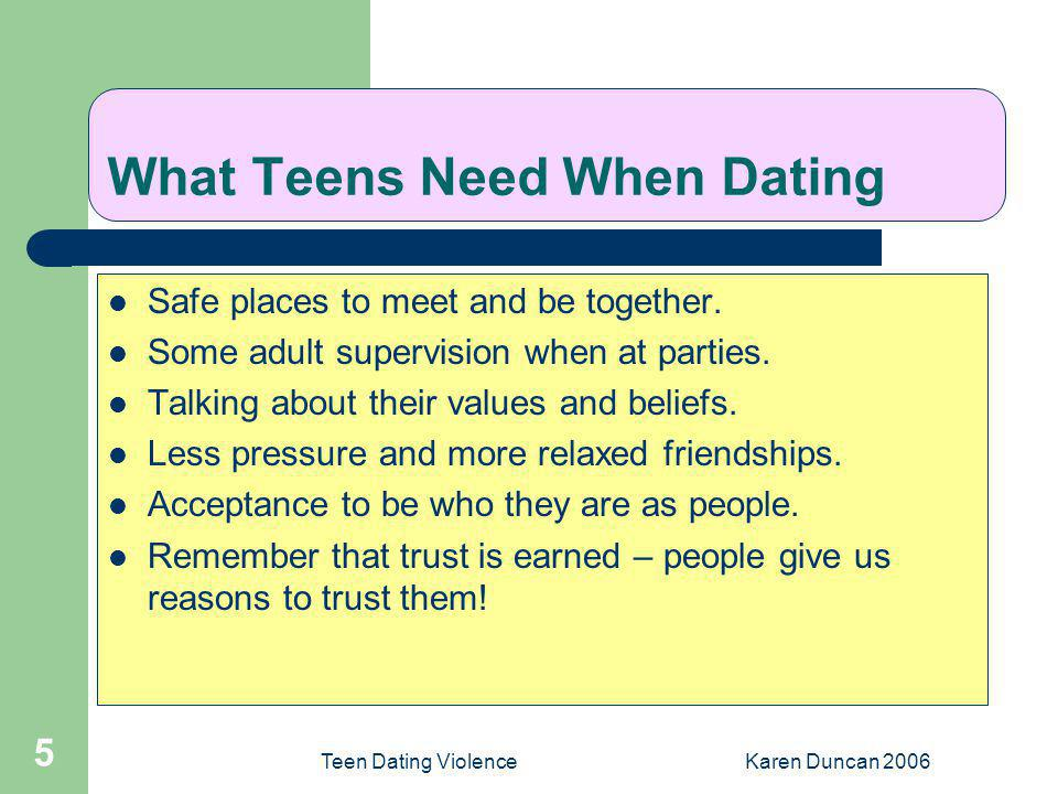 What Teens Need When Dating