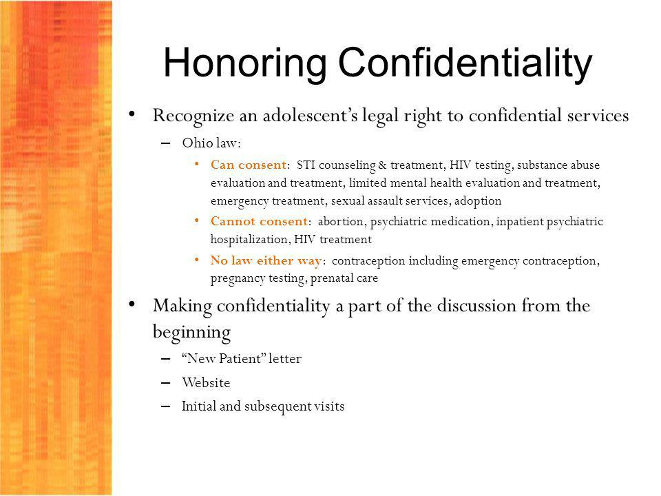 Honoring Confidentiality