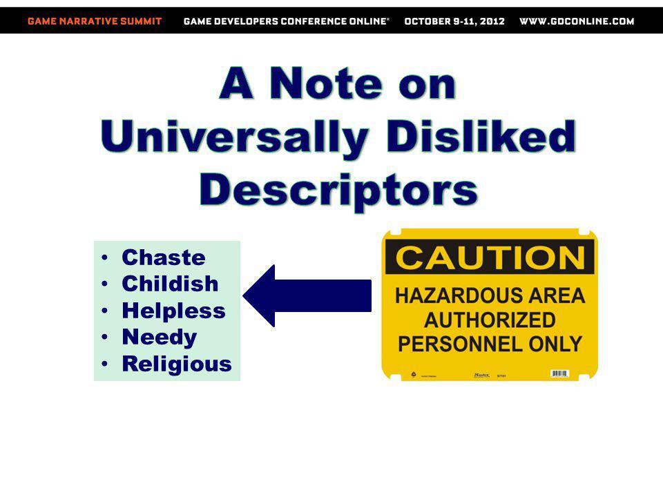 Universally Disliked Descriptors
