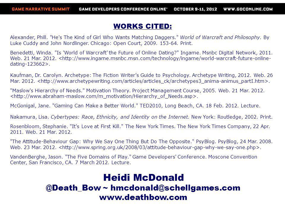 @Death_Bow ~ hmcdonald@schellgames.com