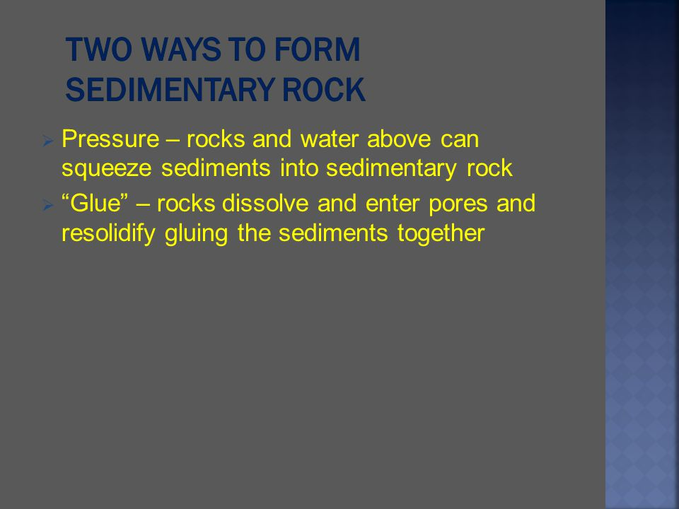Two ways to form Sedimentary Rock