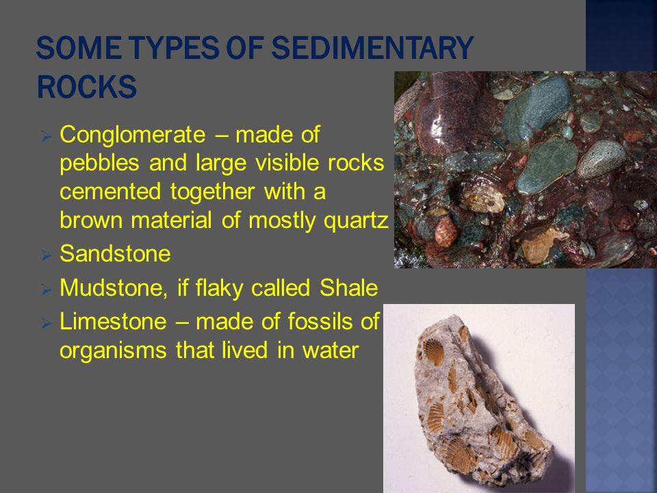 Some types of Sedimentary Rocks