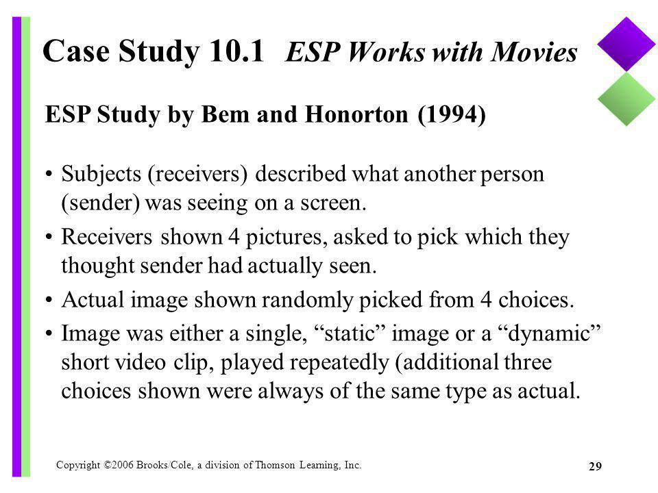 Case Study 10.1 ESP Works with Movies
