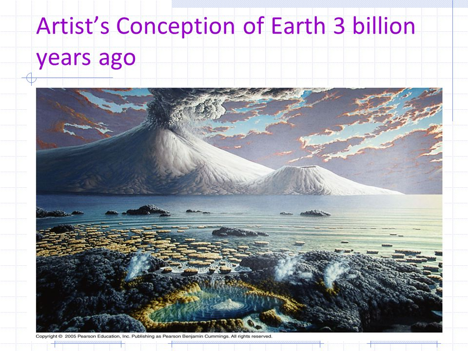 Artist's Conception of Earth 3 billion years ago