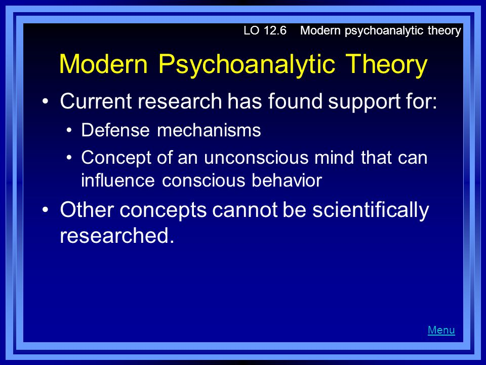 Modern Psychoanalytic Theory