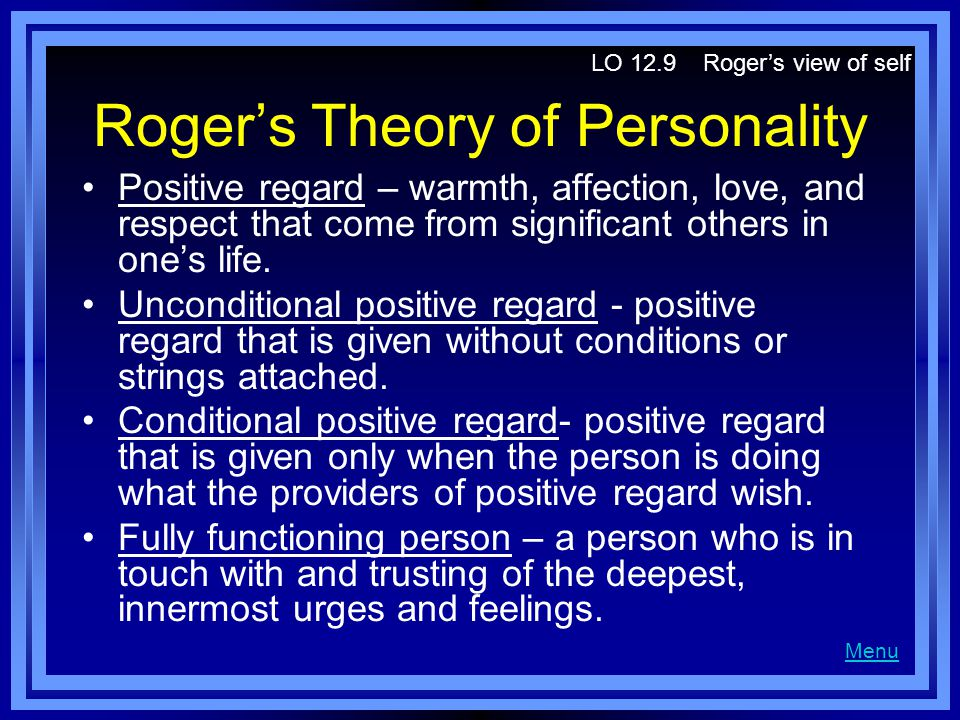 Roger's Theory of Personality
