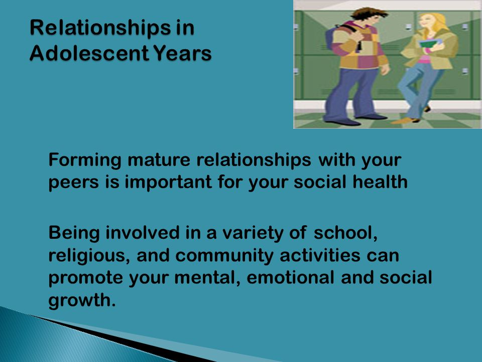 Relationships in Adolescent Years
