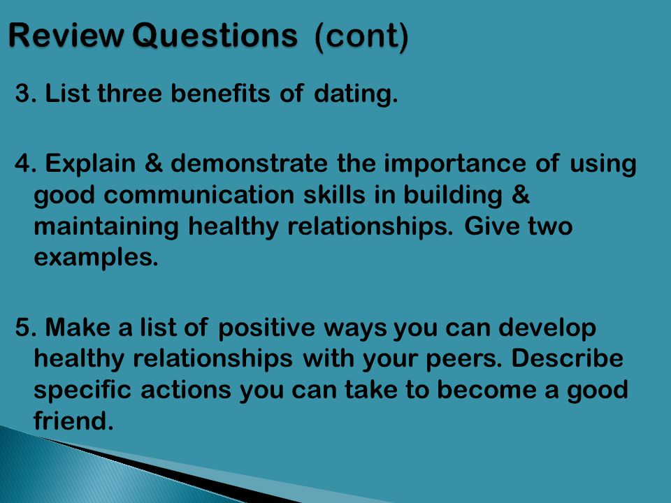 Building healthy dating relationships