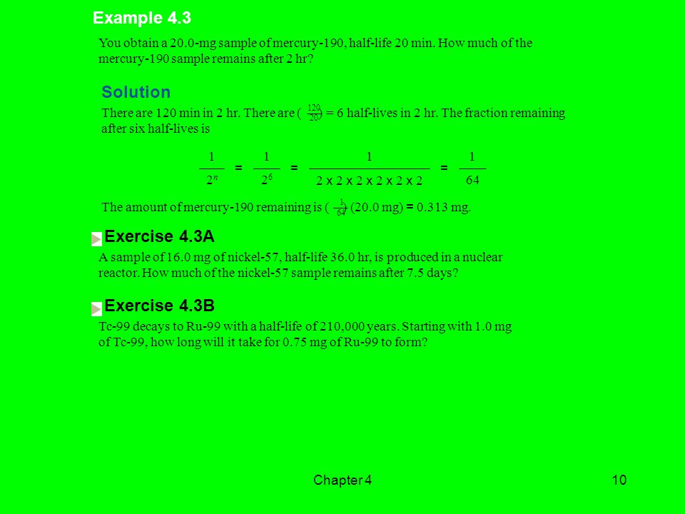 Example 4.3 Solution Exercise 4.3A Exercise 4.3B