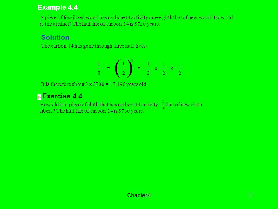 ( ) Example 4.4 Solution Exercise 4.4