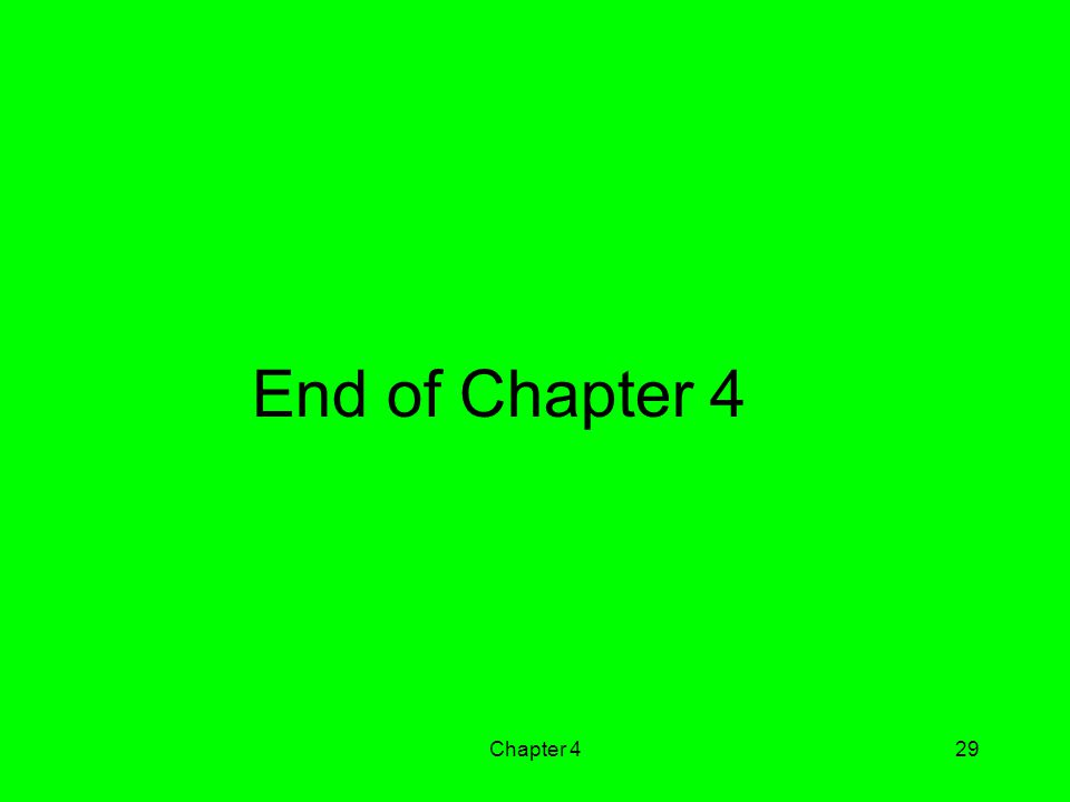 End of Chapter 4 Chapter 4
