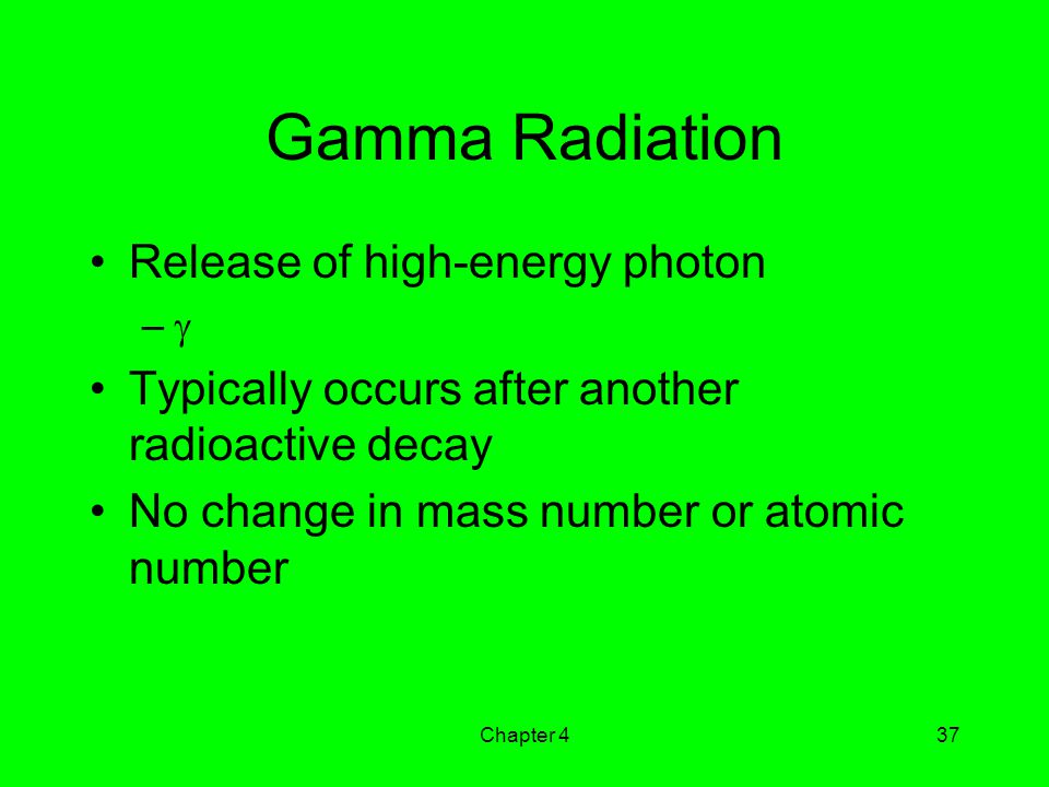 Gamma Radiation Release of high-energy photon