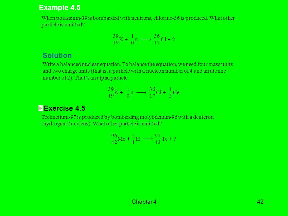 Example 4.5 Solution Exercise 4.5