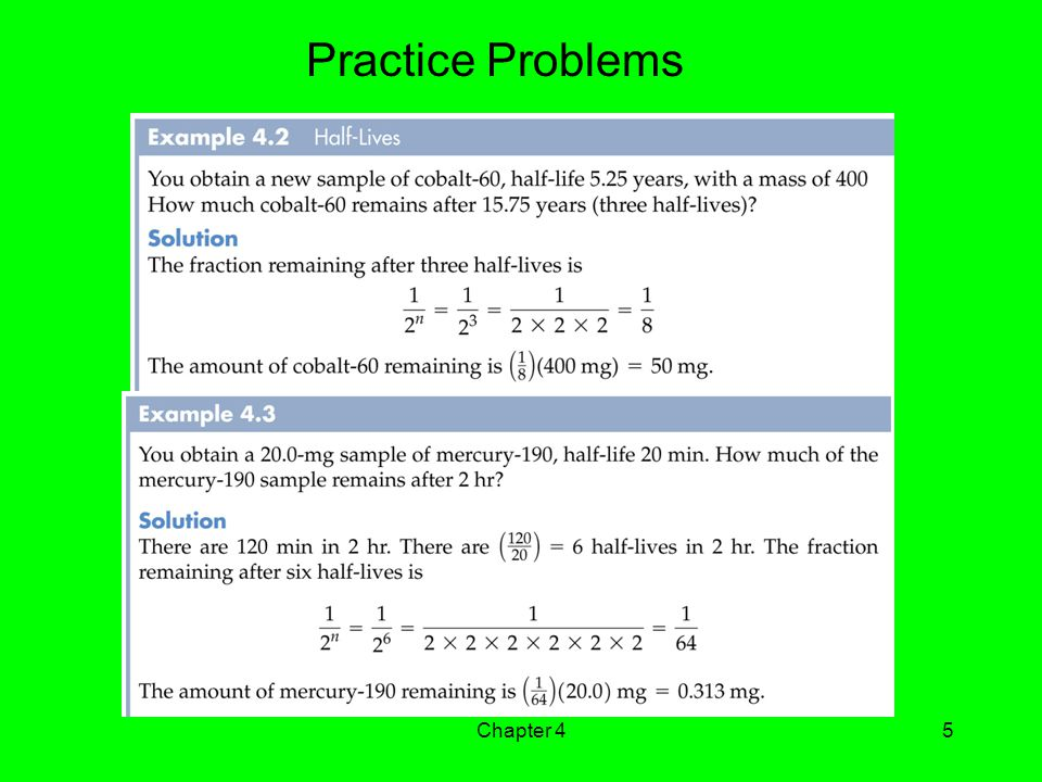 Practice Problems Chapter 4