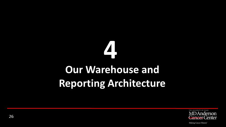 Our Warehouse and Reporting Architecture