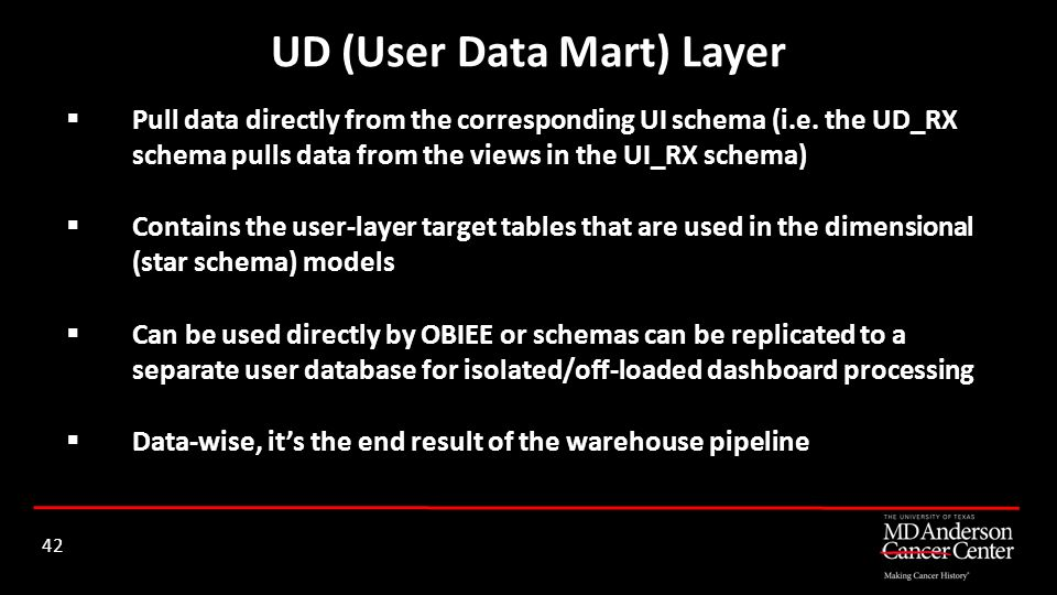 UD (User Data Mart) Layer