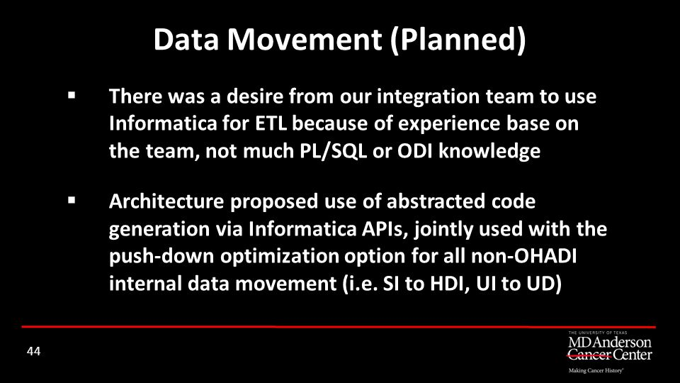 Data Movement (Planned)