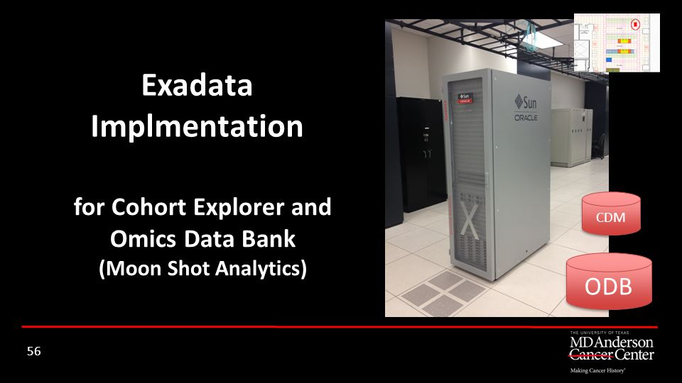 Exadata Implmentation for Cohort Explorer and Omics Data Bank