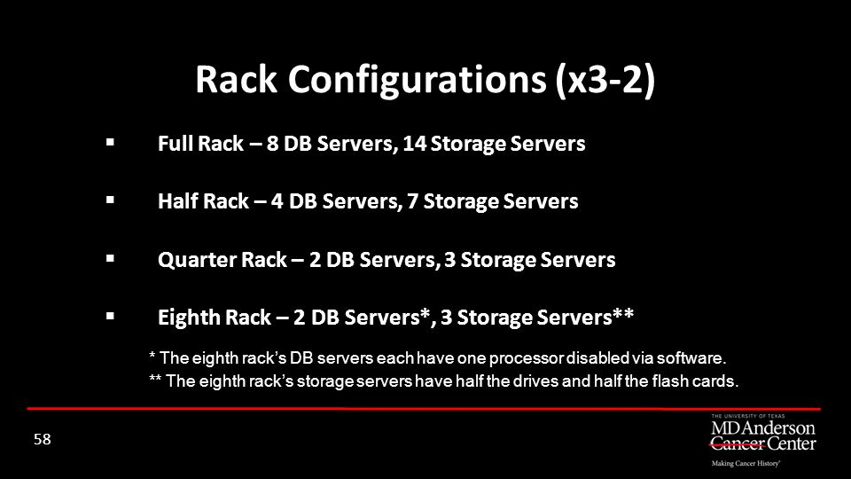 Rack Configurations (x3-2)