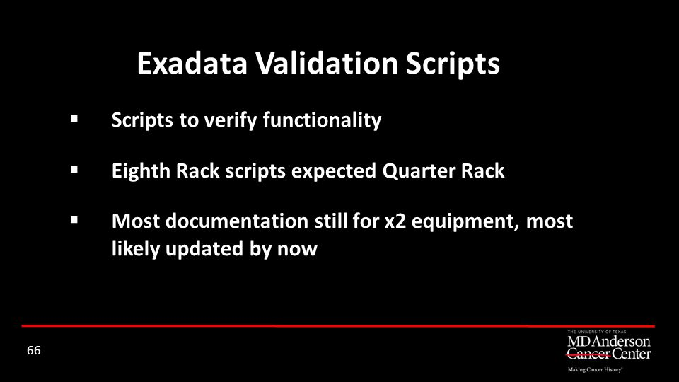 Exadata Validation Scripts