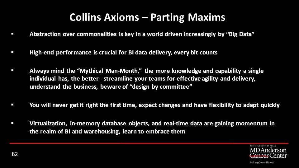 Collins Axioms – Parting Maxims