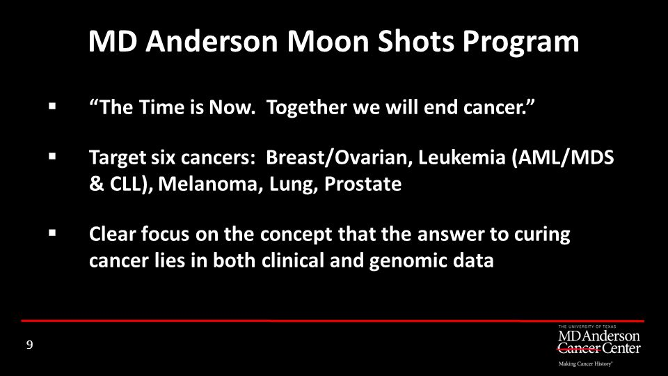 MD Anderson Moon Shots Program