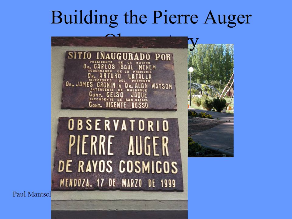 Building the Pierre Auger Observatory